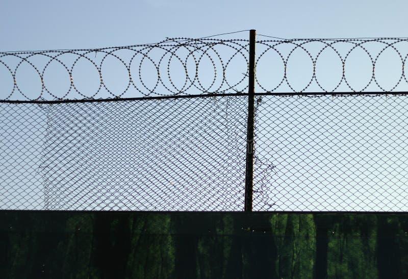 Frontière de sécurité 3 de barbelé photo libre de droits