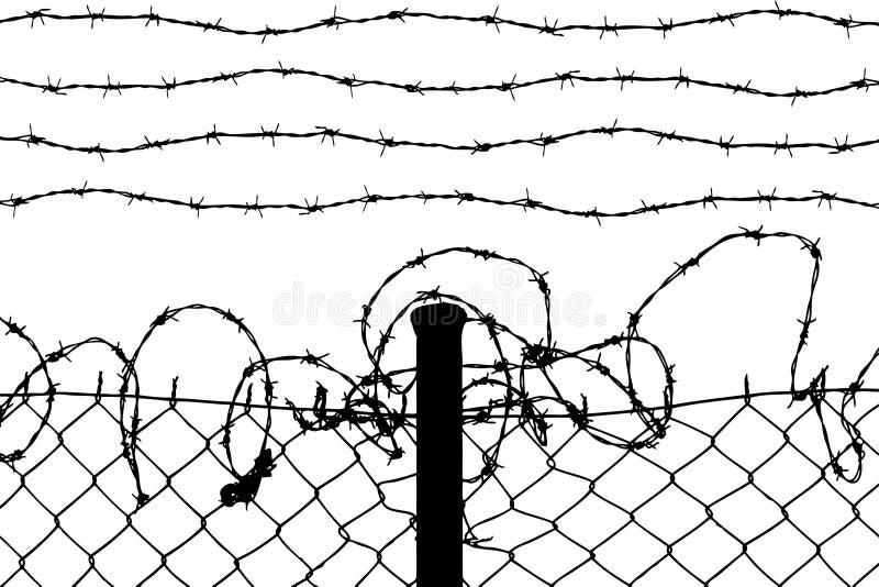 Frontière de sécurité de câble illustration stock