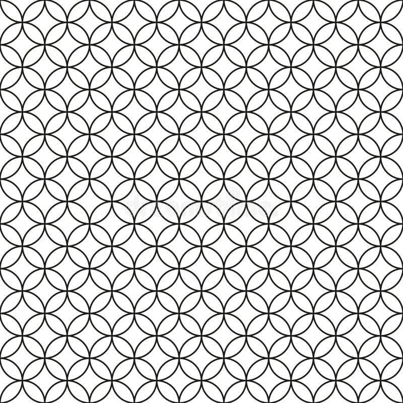 Frontière de sécurité de câble Ring Cage noir sur le fond blanc illustration stock