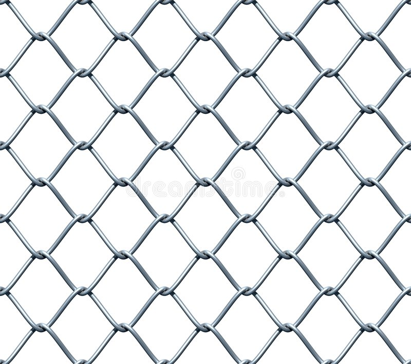 Frontière de sécurité de Chainlink sans joint illustration de vecteur