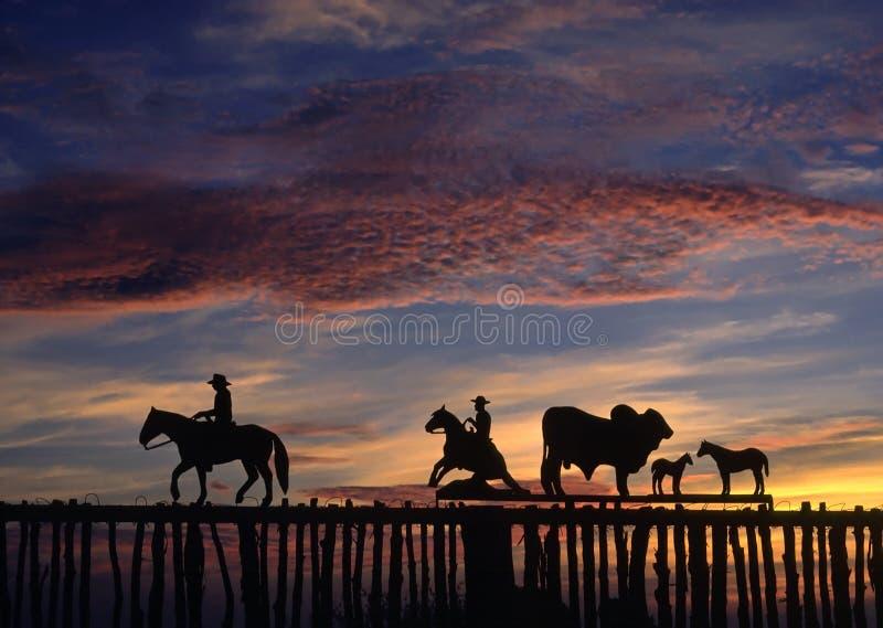 Frontière de sécurité de cowboy images libres de droits