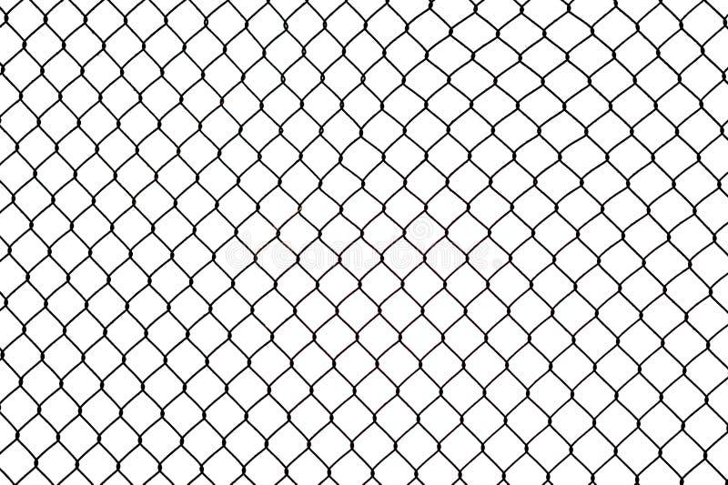 Frontière de sécurité de fil cassée de fer photos stock