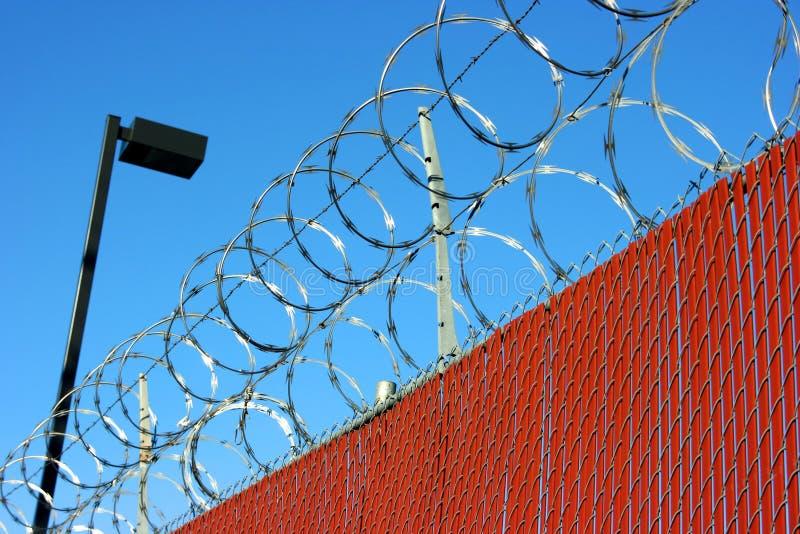 Frontière de sécurité de fil de bavure images libres de droits