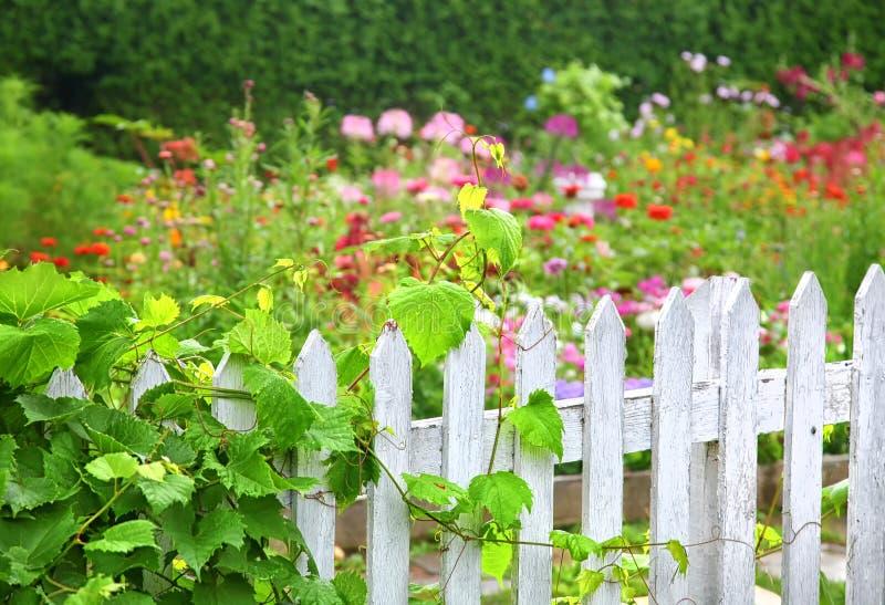 Frontière de sécurité de jardin image stock