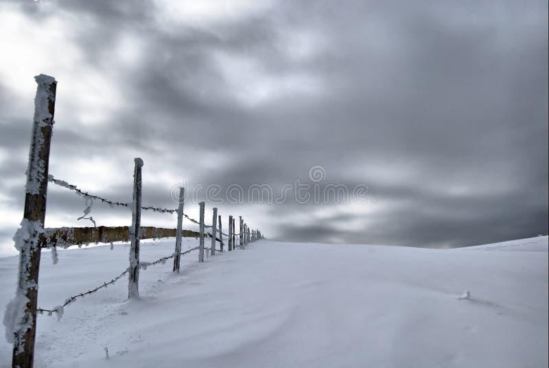 Frontière de sécurité de l'hiver images libres de droits
