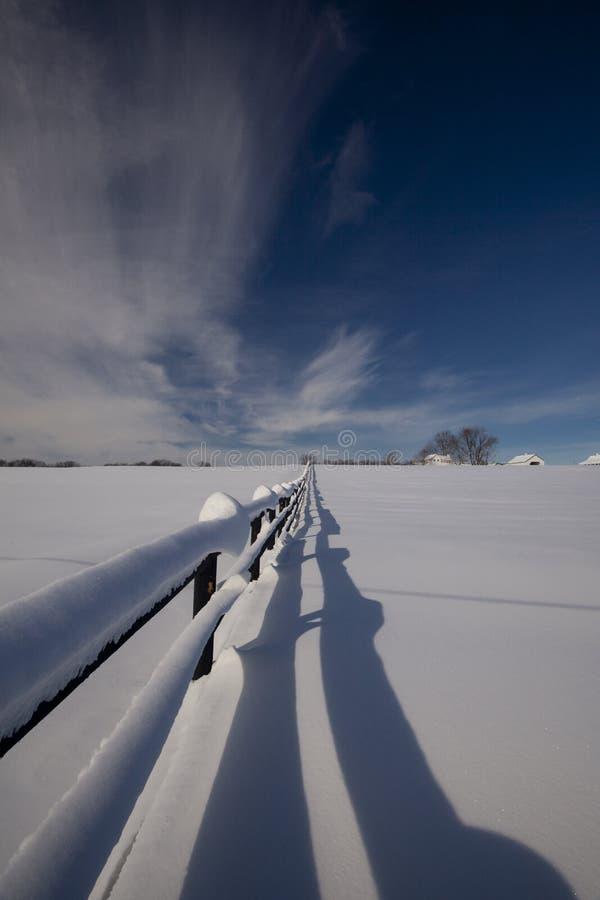 Frontière de sécurité de l'hiver photo libre de droits