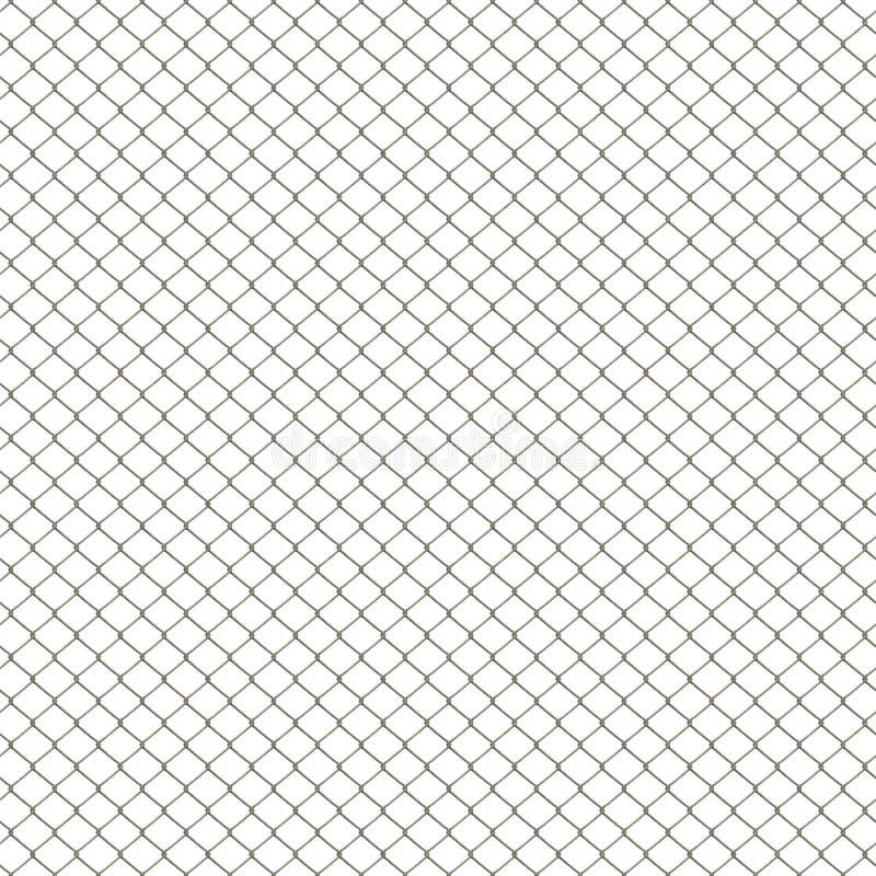 Frontière de sécurité de maillon de chaîne illustration de vecteur