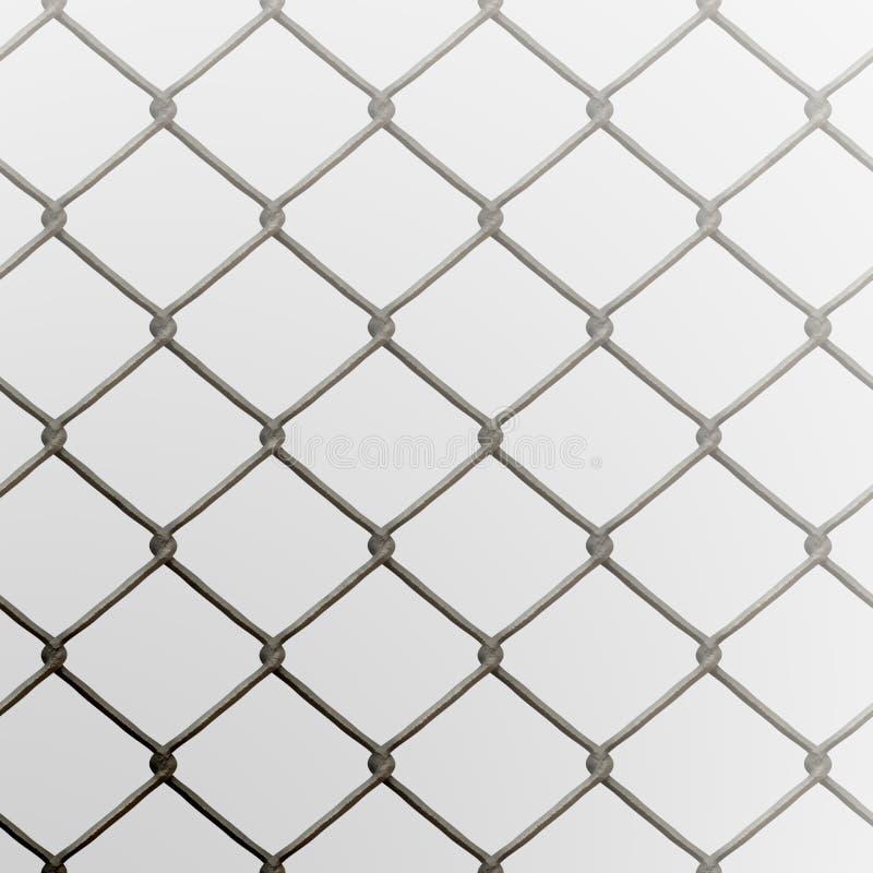 Frontière de sécurité de maillon de chaîne illustration stock