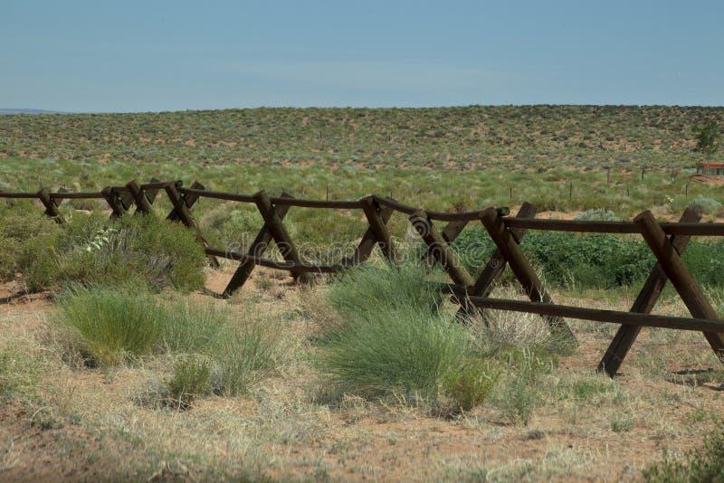 Frontière de sécurité de ranch images stock