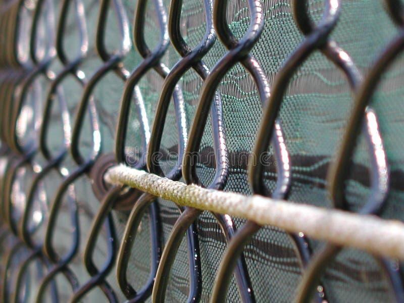 Frontière de sécurité de tennis photographie stock