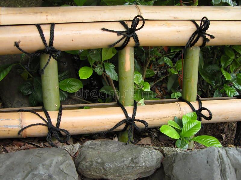 Frontière de sécurité en bambou japonaise photographie stock libre de droits