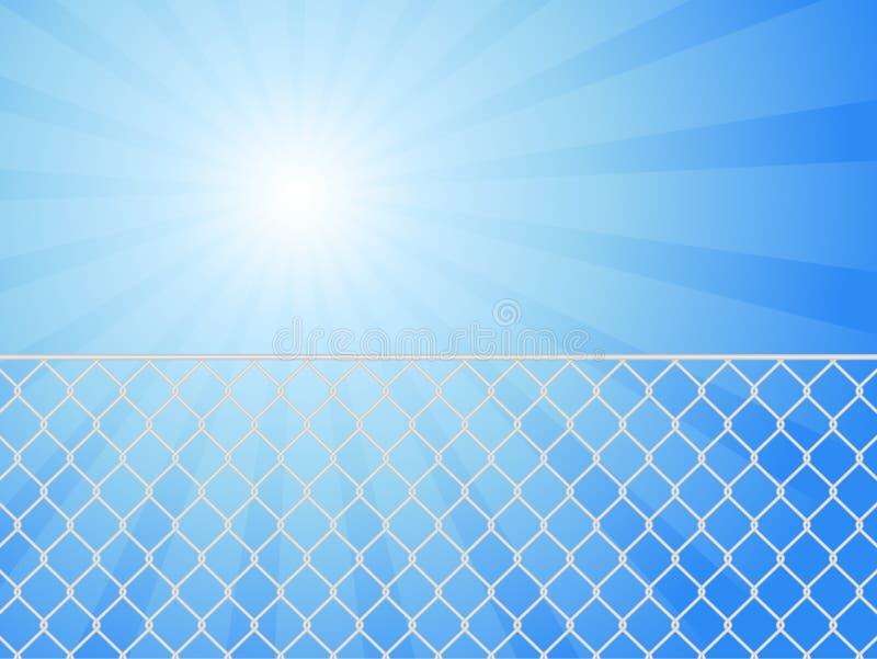 Frontière de sécurité et ciel de fil illustration libre de droits
