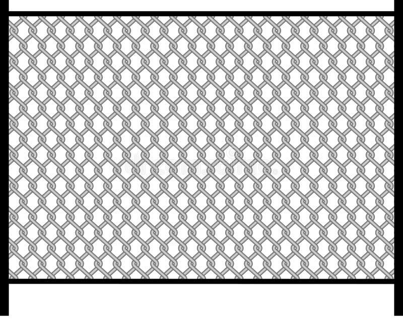 Frontière de sécurité, fil, métal, fer illustration de vecteur