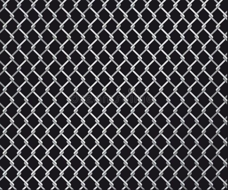 Frontière de sécurité jointe par fil illustration de vecteur
