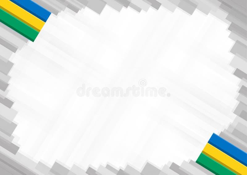 Fronti?re de Saint-Vincent-et-les-Grenadines illustration de vecteur