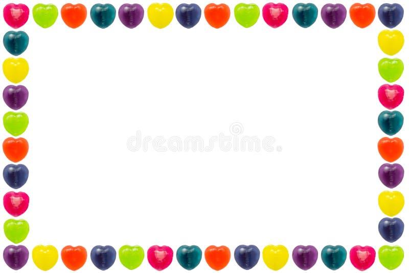 Frontière de sucrerie de coeur illustration de vecteur