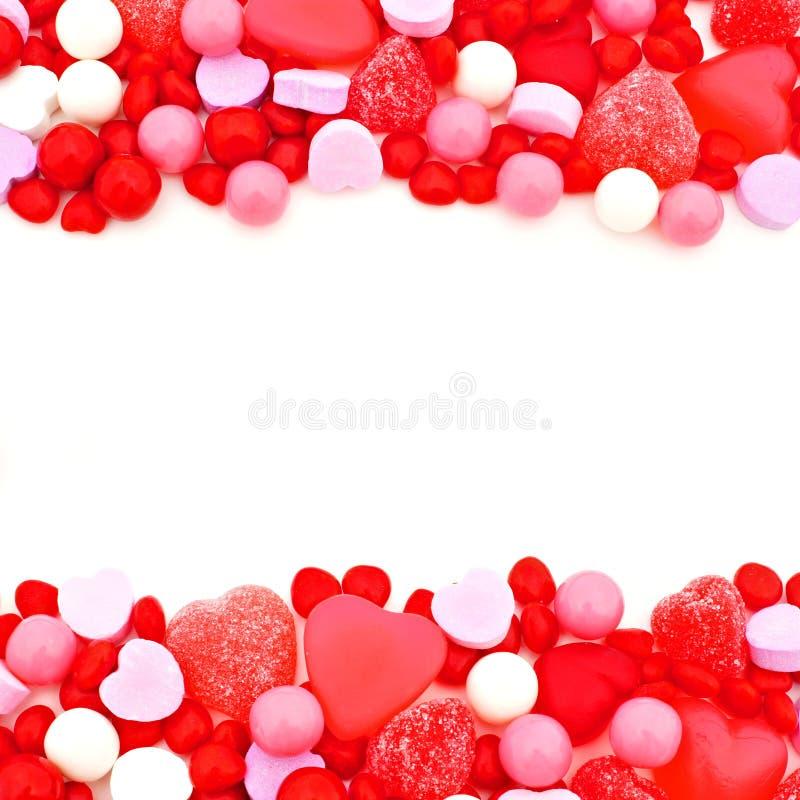 Frontière de sucrerie de jour de valentines photo libre de droits