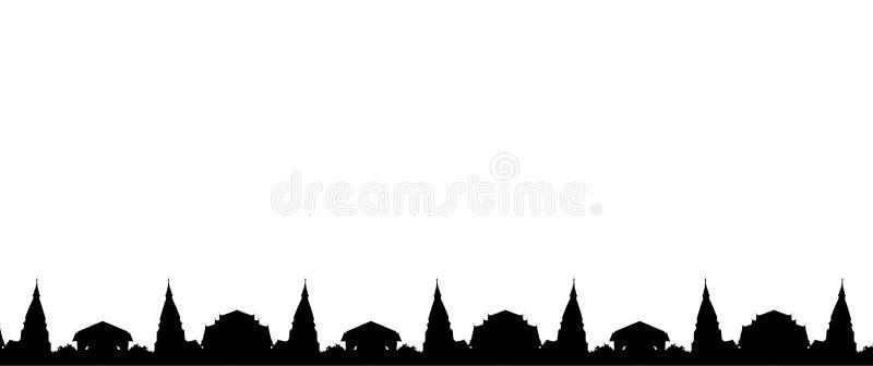 Frontière de temple photo stock