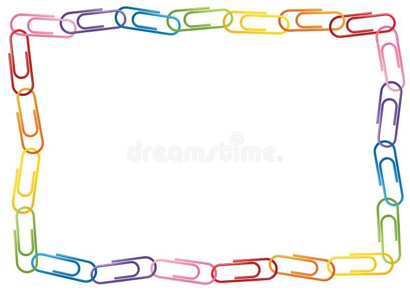 Frontière de trombone illustration de vecteur