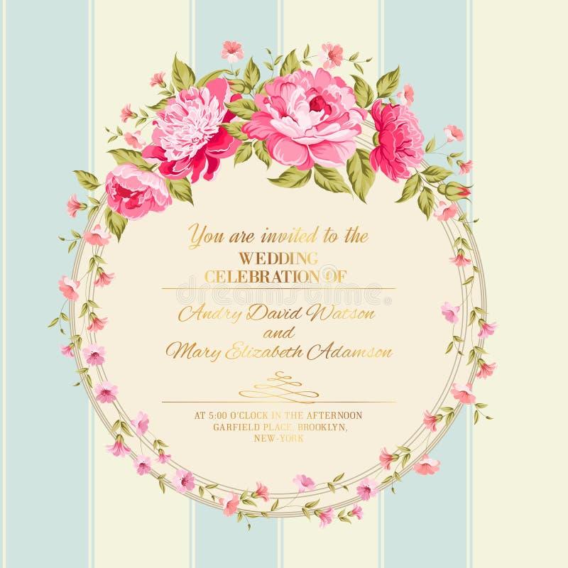Frontière des fleurs illustration stock