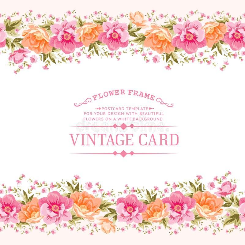 Frontière des fleurs dans le style de vintage illustration de vecteur