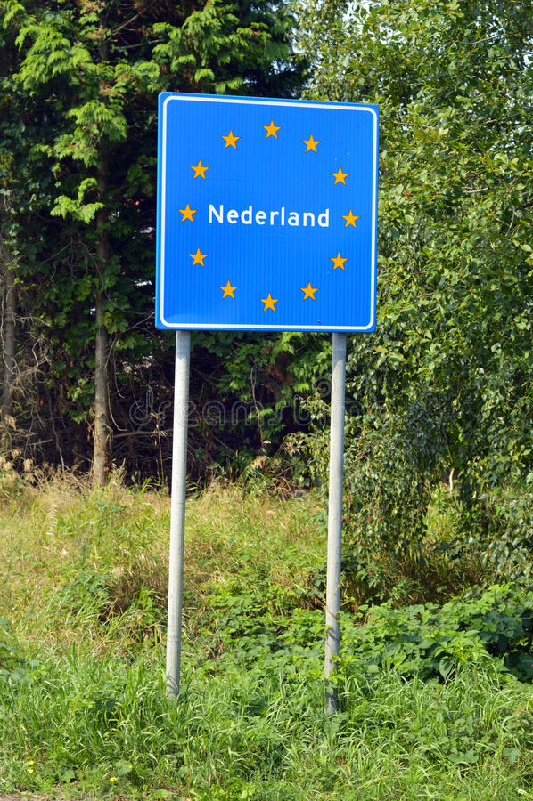 Frontière des Pays-Bas images libres de droits
