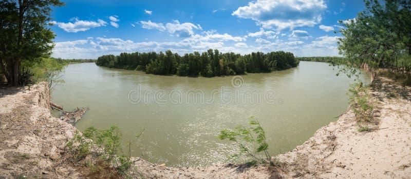 Frontière du Río Grande le Texas Etats-Unis Mexique photo stock
