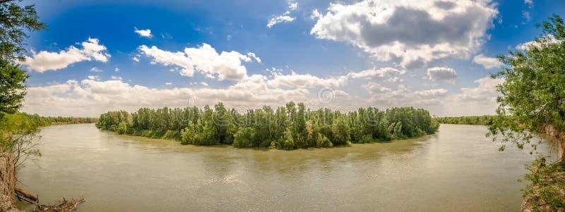 Frontière du Río Grande le Texas Etats-Unis Mexique photographie stock