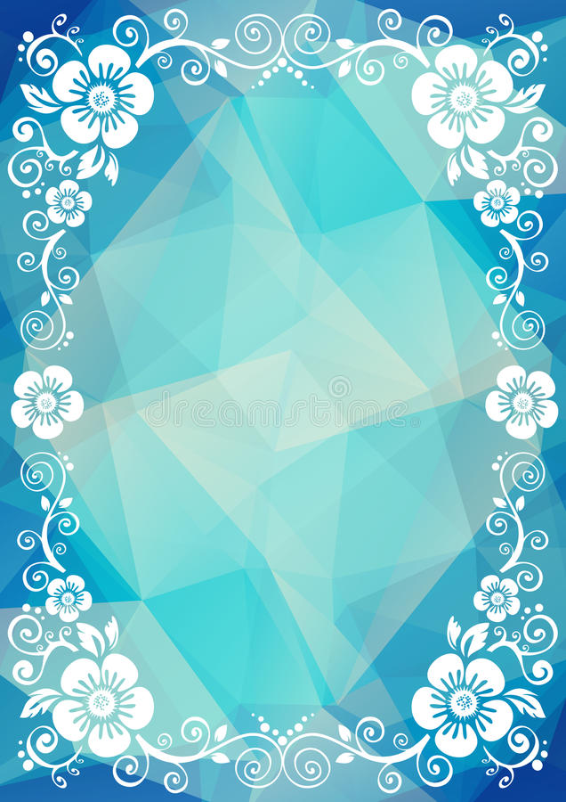 Frontière florale bleue illustration libre de droits