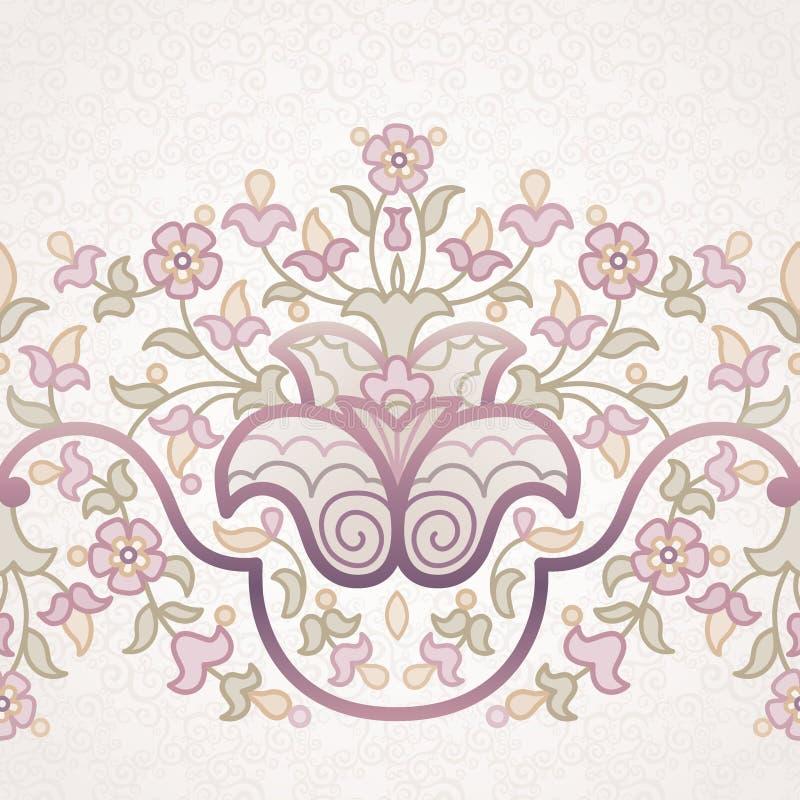 Frontière florale de vecteur dans le style oriental illustration de vecteur