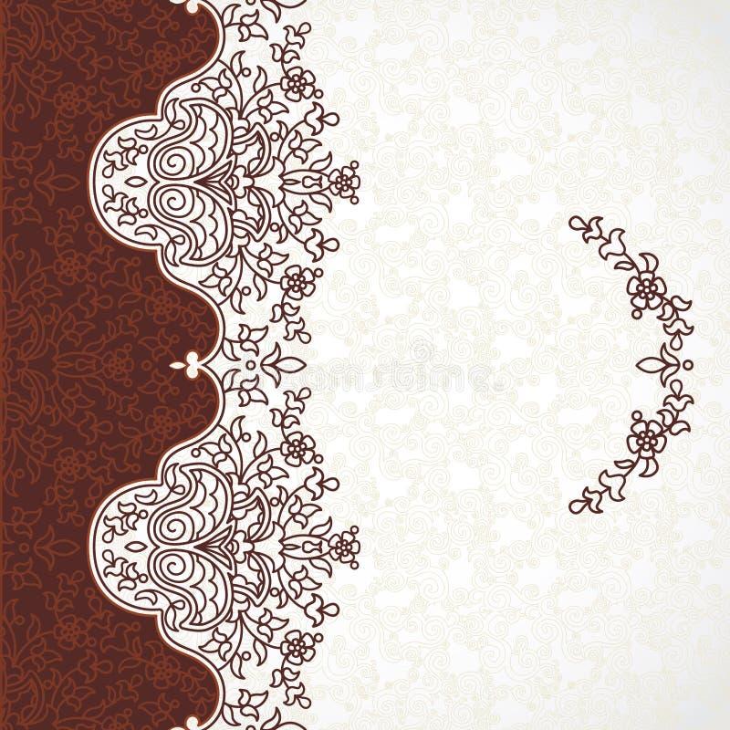 Frontière florale de vecteur dans le style oriental illustration stock