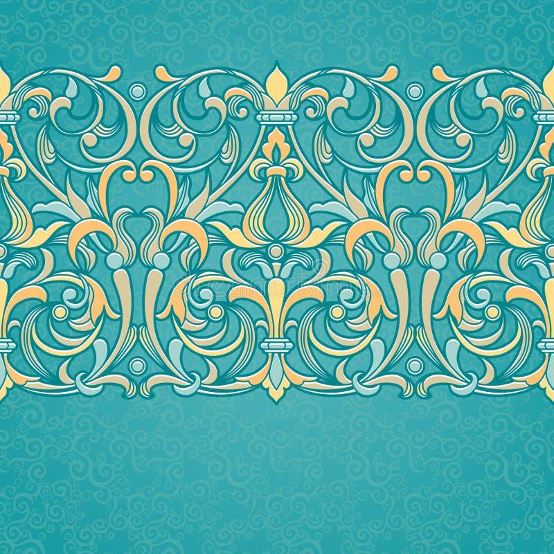 Frontière florale de vecteur dans le style victorien illustration libre de droits