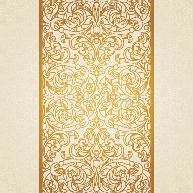 Frontière florale de vecteur dans le style victorien illustration stock
