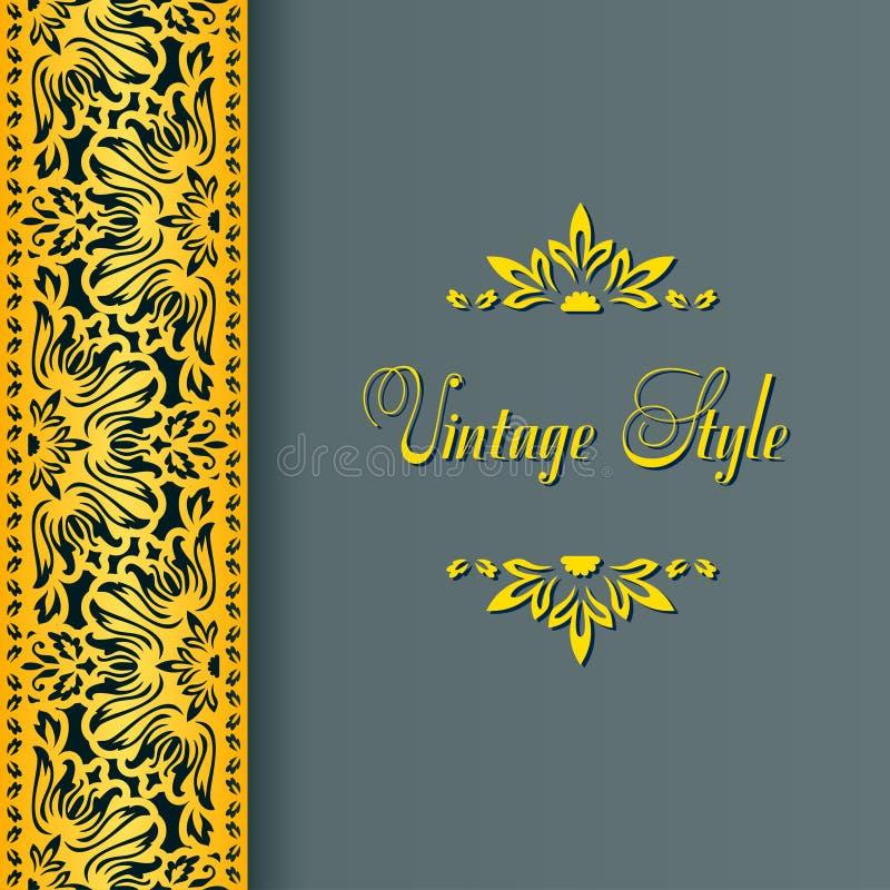 Frontière florale de vecteur dans le style victorien illustration de vecteur