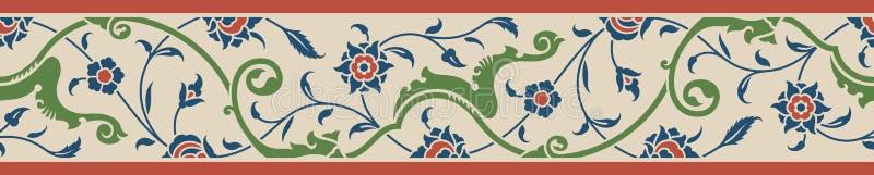 Frontière florale deux illustration libre de droits