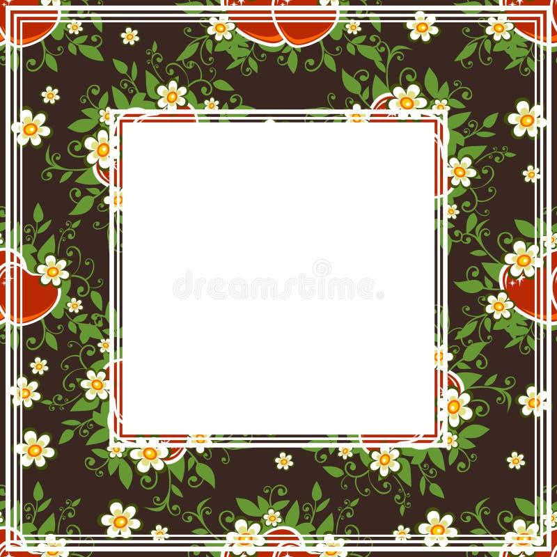 Frontière florale foncée illustration de vecteur