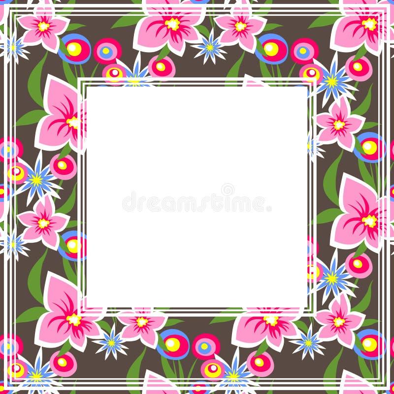 Frontière foncée florale illustration libre de droits
