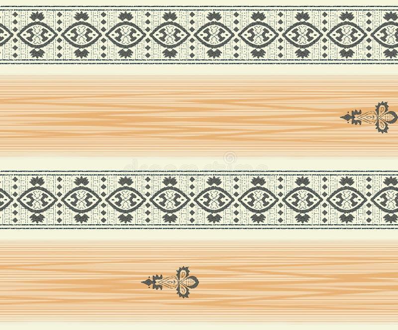 Frontière géométrique sans couture avec la couleur orange illustration libre de droits