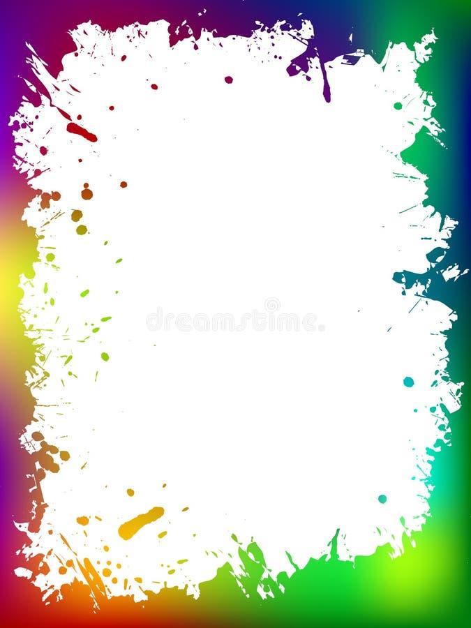 Frontière grunge colorée illustration de vecteur