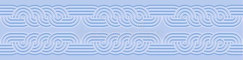 Frontière horizontale colorée sans couture de vintage illustration libre de droits