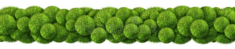 Frontière horizontale d'herbe de résumé illustration de vecteur
