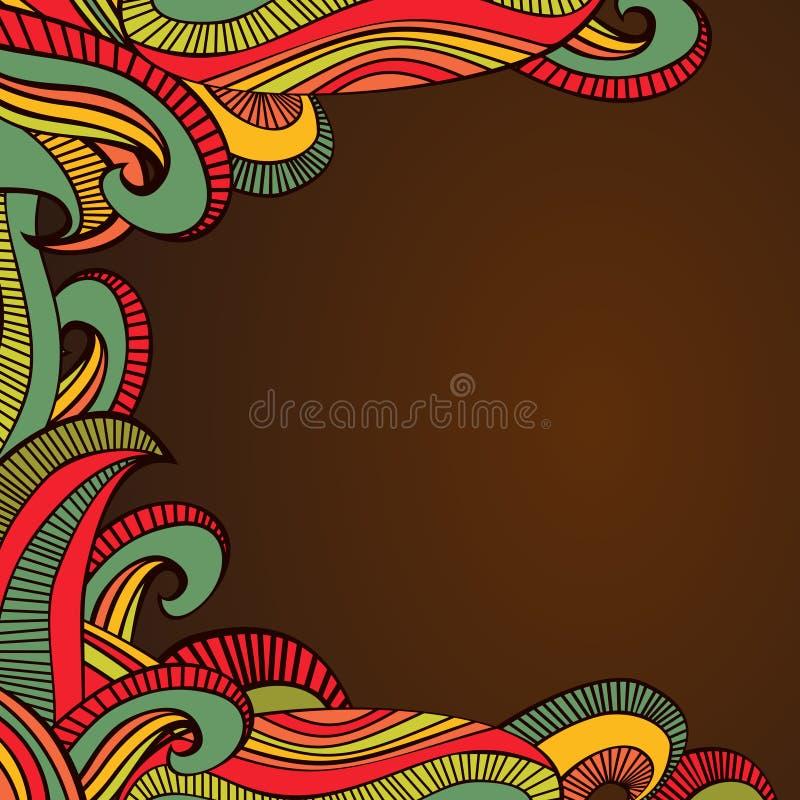 Frontière lumineuse abstraite de vagues illustration stock