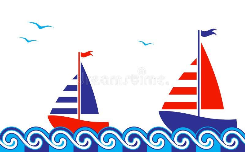 Frontière nautique illustration de vecteur