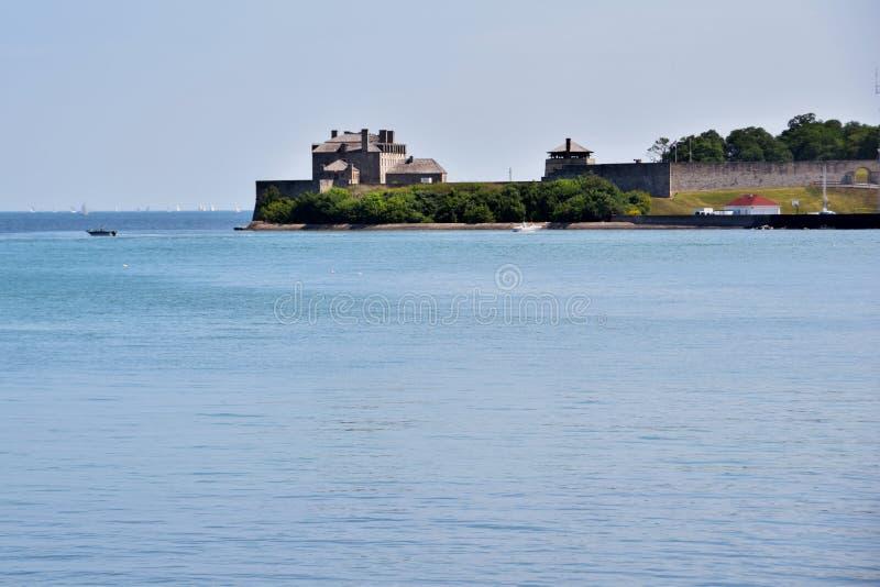 Frontière Niagara de Canada de l'Amérique sur le lac photographie stock libre de droits