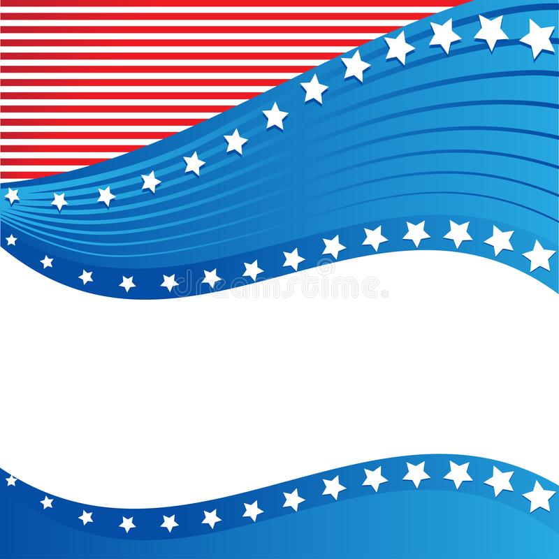 Frontière patriotique américaine, fond, avec des étoiles illustration libre de droits