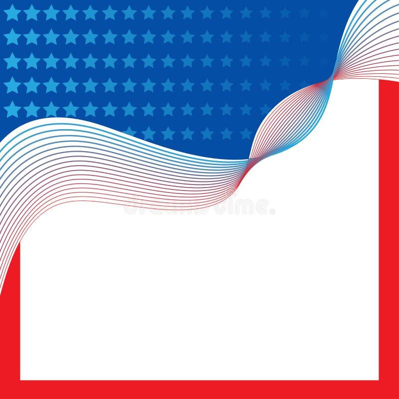 Frontière patriotique, fond, avec des étoiles illustration de vecteur