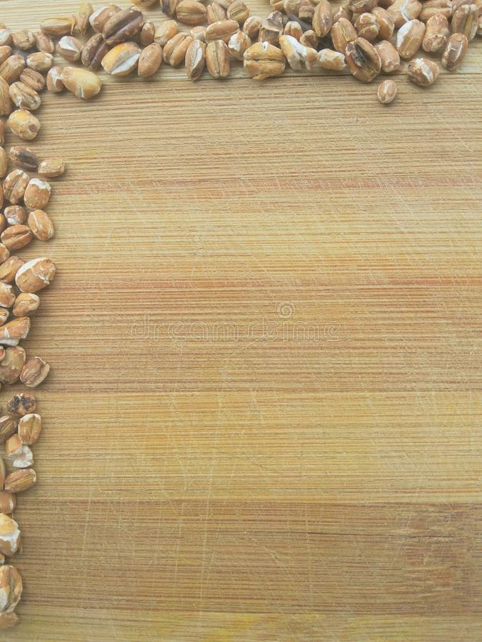 Frontière rôtie de grain d'avoine image libre de droits