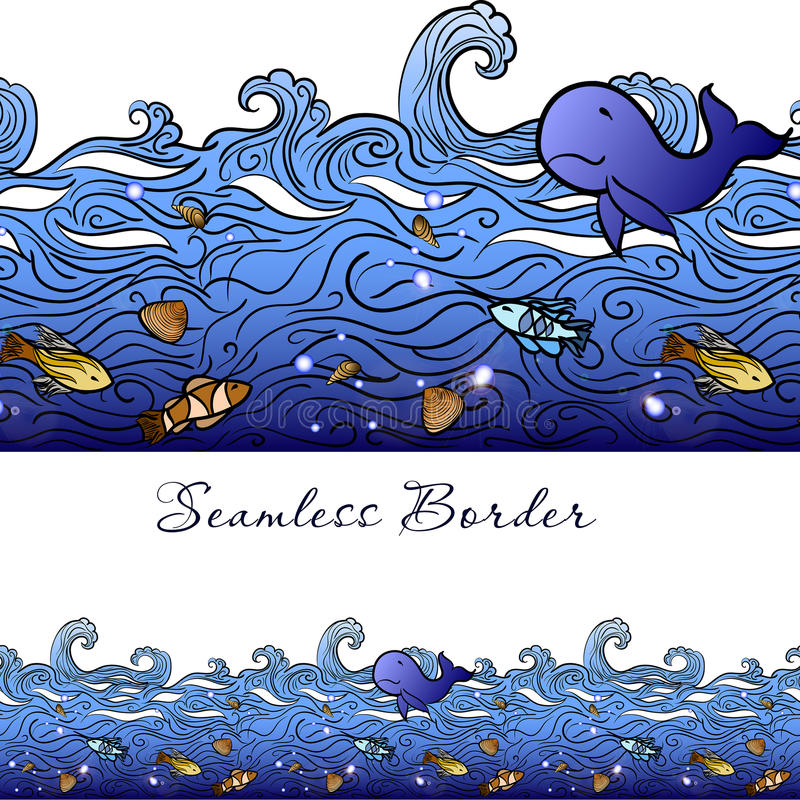 Frontière sans couture de mer illustration libre de droits