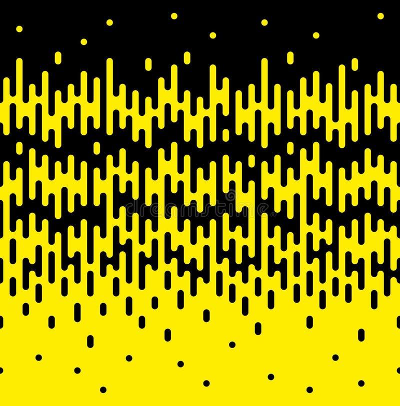 Frontière sans couture de transition tramée de la fonte arrondie par verticale illustration de vecteur