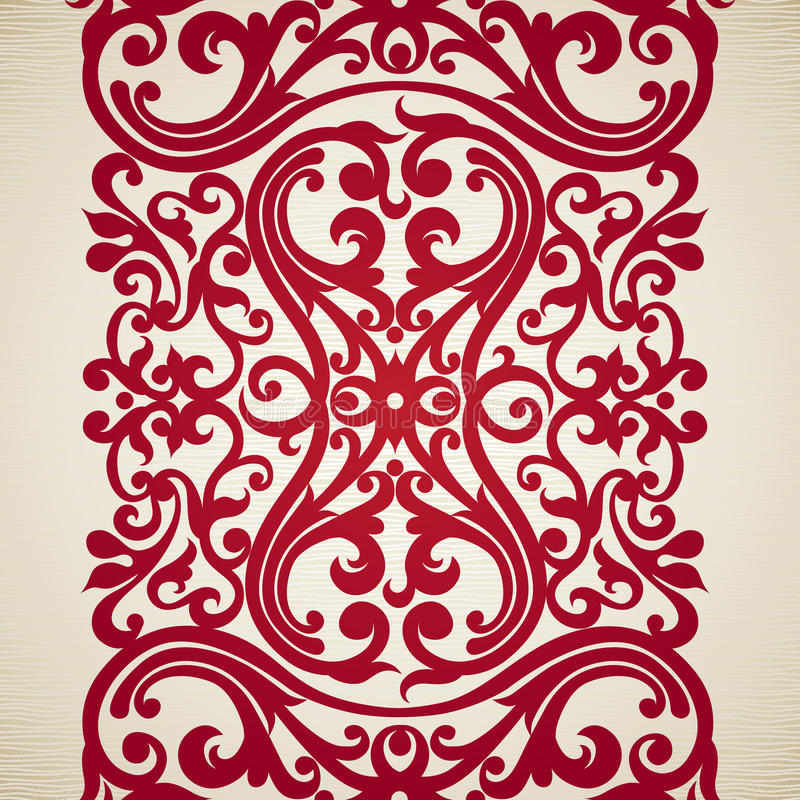 Frontière sans couture de vecteur dans le style victorien illustration stock